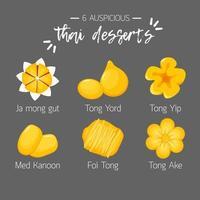 6 sobremesa tailandesa auspiciosa vetor