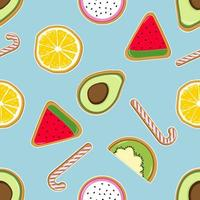 padrão sem emenda de fruta chique