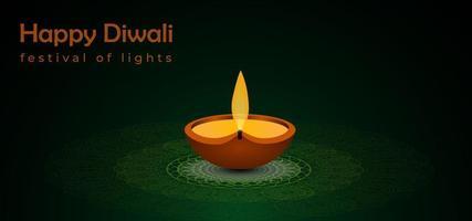 Fundo abstrato festival de diwali vetor