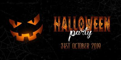Banner de festa de halloween do grunge