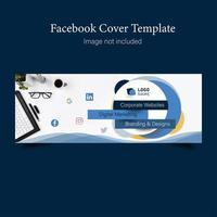 Banner de capa corporativa do Facebook vetor