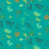 Plano de fundo padrão animal tropical vetor
