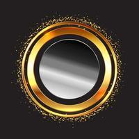 armações circulares metálicas com glitter dourado vetor
