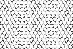 Padrão hexagonal de contorno abstrato ponto preto