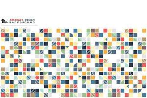 Padrão de mosaico abstrato colorido forma geométrica vetor