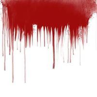 Gotas de sangue no fundo branco vetor