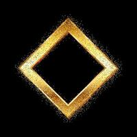 Moldura de diamante ouro com glitter vetor