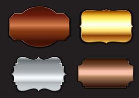 Coleção de armações metálicas vetor