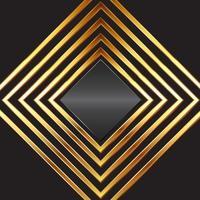 quadros de diamante de ouro vetor