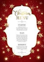 Projeto decorativo de menu de Natal vetor