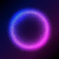 Fundo de partículas de néon brilhante