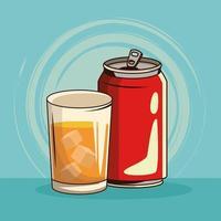 Cartaz de bebida de refrigerante vintage vetor