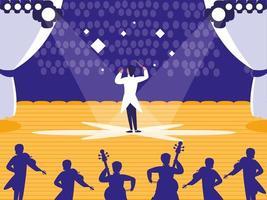 palco com show musical