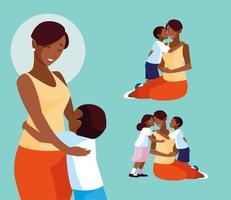 grupo de giros mães e filhos