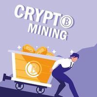 bitcoins de mineração de criptografia de trabalhador