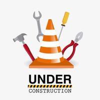 Sob projeto de ferramentas de construção.