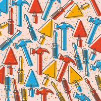 conjunto de padrão de construção de ferramentas vetor