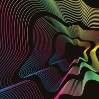 Abstrato fluido neon vetor
