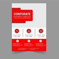 Modelo de folheto - brochura de negócios corporativos vetor