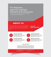 Sobre nós Corporate Flyer Business Design vetor