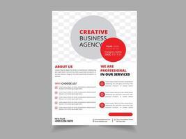 Modelo de Folheto - negócios criativos vetor