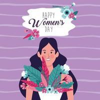 Cartaz do dia da mulher feliz vetor