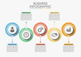 Modelo de ícone de infográfico de negócios