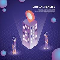 realidade virtual isométrica vetor