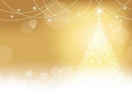 Fundo abstrato inverno sem costura ouro vetor