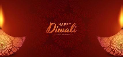 Fundo de cartão festival hindu diwali vetor