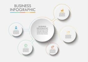 Infográfico de Web do círculo de negócios vetor