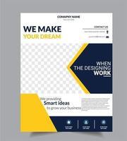 Modelo de Design de brochura de panfleto de negócios corporativos vetor