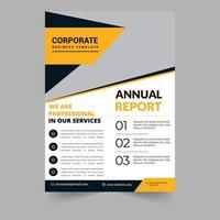 Design de folheto de relatório corporativo vetor