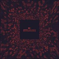 Quadrados vermelhos do design da capa da dimensão de tecnologia. eps10 de ilustração vetorial