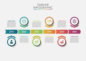 Modelo de infográfico de cronograma de negócios vetor