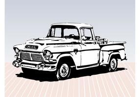 Esboço do caminhão velho vetor
