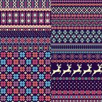 Conjunto de padrões de camisola sem emenda vetor