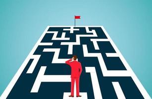 Conceito de Facing Obstacles do homem de negócios vetor