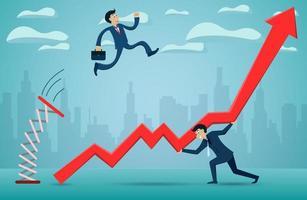 Conceito de negócio de trabalho em equipe vetor
