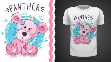 Pantera cor-de-rosa - ideia para imprimir t-shirt