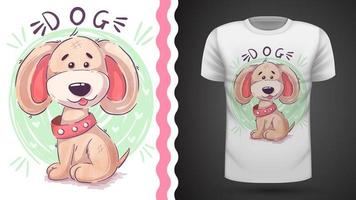 Cão de peluche engraçado - ideia para imprimir t-shirt
