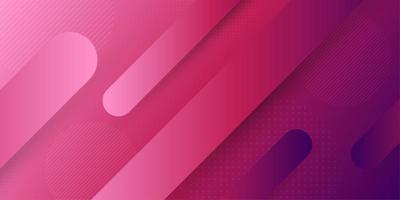 Fundo de forma de cápsula geométrica retrô abstrato rosa e roxo vetor