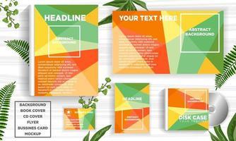 Conjunto de modelo de web banner design abstrato geométrico