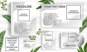 Conjunto de modelo de banner abstrato cinza Design web