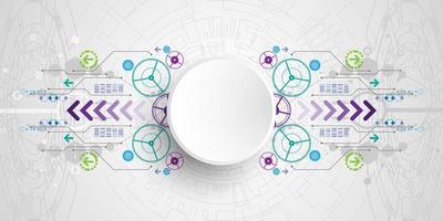 Fundo de conexões de circuito de tecnologia abstrata vetor