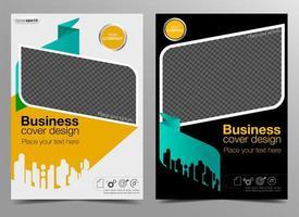 Design da capa de negócios vetor