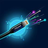 Cabo de Internet de alta velocidade digital vetor