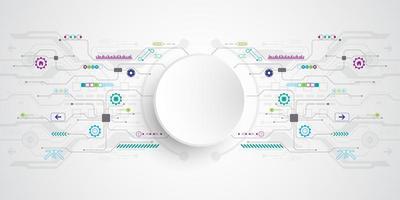 Fundo de circuito de tecnologia moderna vetor