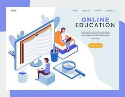 Projeto isométrico de educação on-line