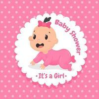 Projeto do chuveiro de bebê vetor